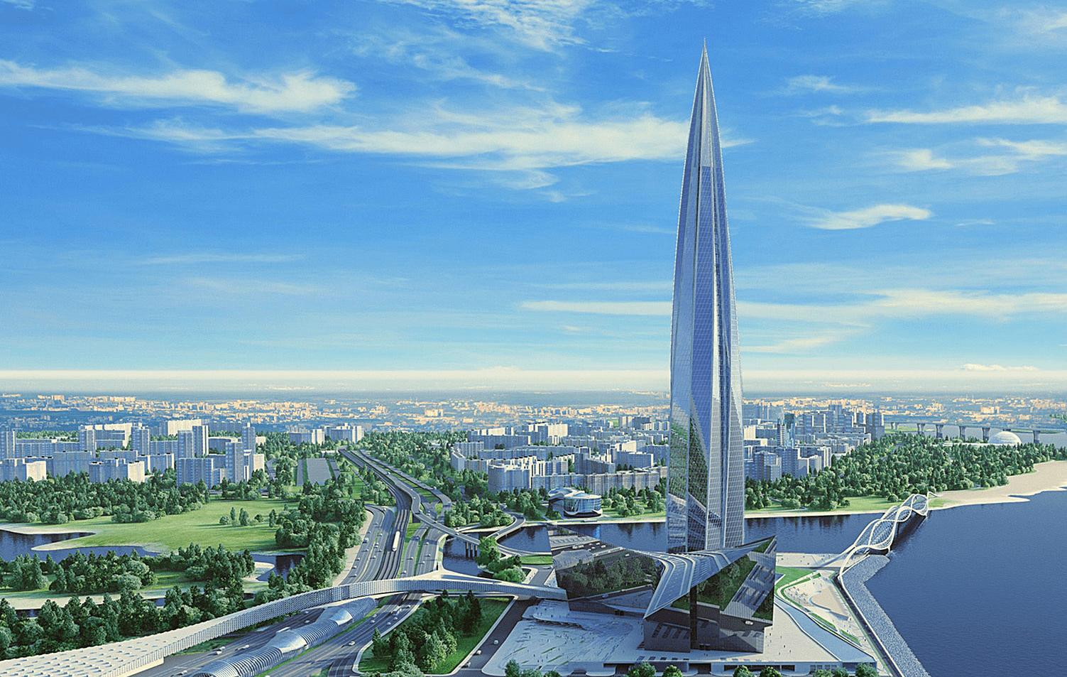 Строительство МФК «Лахта - Центр» в г. Санкт - Петербург